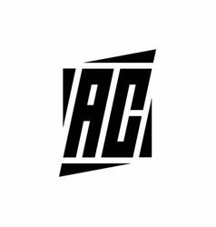 Ac logo monogram with modern style concept design vector