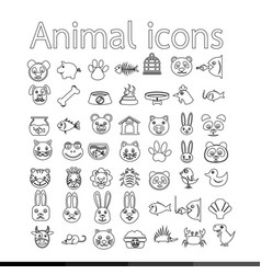 animal icon design vector image