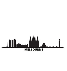 australia melbourne city skyline isolated vector image