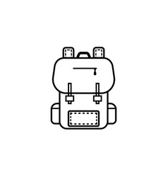 backpack line icon education and school element vector image