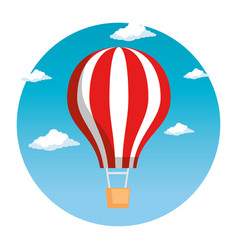 balloon air hot flying vector image