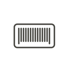 barcode icon line bar code symbol vector image