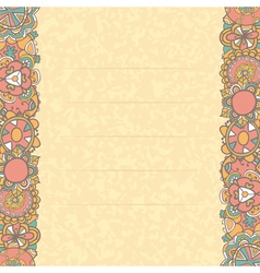 Beautiful greeting card with cute flowers vector image
