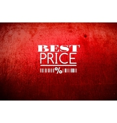 Best price typography on grunge old background vector