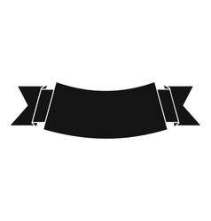 Black banner icon simple style vector