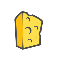 block of cheese clipart for icon or vector image