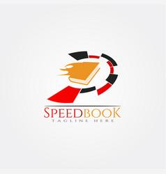 Book speed icon template creative logo design vector