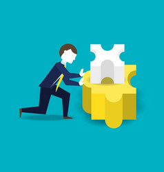 Businessman working for the success concept vector