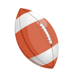 Cartoon of a rugby ball vector