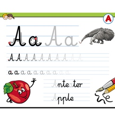 Cartoon of Writing Skills Practise wi vector