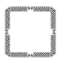 celtic knots medieval frame in black vector image