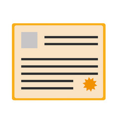 certificate document icon vector image