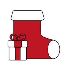 Christmas sock design vector