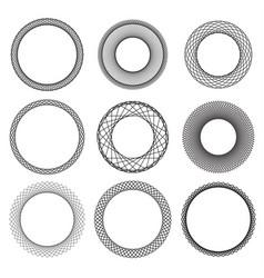 circle border frame vector image