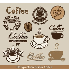 coffee theme vector image
