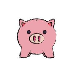 Colored piggybank vector