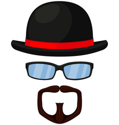 colorful cartoon hipster avatar vector image