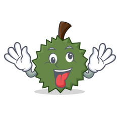 Crazy durian mascot cartoon style vector