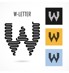 Creative w - letter icon abstract logo design vector