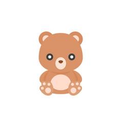 Cute teddy bear icon flat design vector