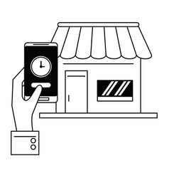 Delivery and logistics black and white vector