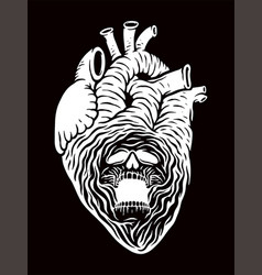 devil in heart vector image