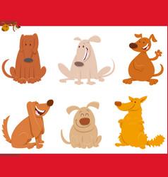 dogs or puppies cartoon animals set vector image