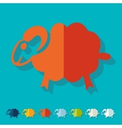 Flat design sheep vector