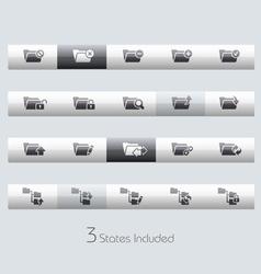 Folders 1 Classic Bar Series vector image