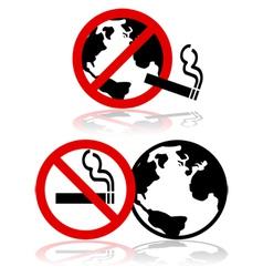 Global no smoking vector