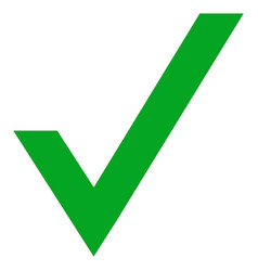 Green right check mark icon symbol vector