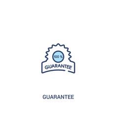 Guarantee concept 2 colored icon simple line vector