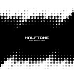 halftone dots pattern frame horizontal background vector image