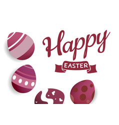 happy easters day greeting card vector image