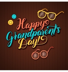 Happy Grandparents Day Calligraphy Greeting Card vector