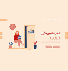 hr recruitment website landing page candidate vector image