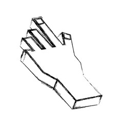 human hand 3d vector image