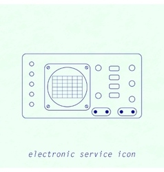 Icon of electrical measuring instrument vector