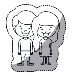 Isolated girl and boy cartoon design vector image