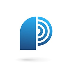 Letter P wireless logo icon design template vector image