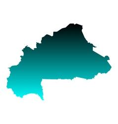 Map of Burkina Faso vector image vector image