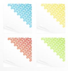 memo stickers vector image