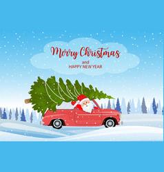 merry christmas winter vector image