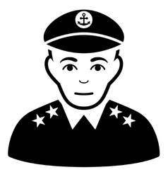 Military Captain Flat Icon vector image
