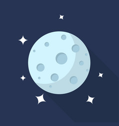 moon icon set of great flat icons with style vector image