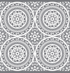 moroccan mandala seamless pattern vector image