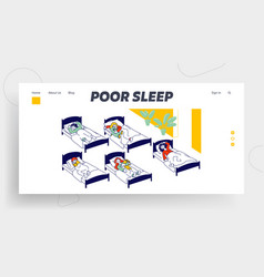 nap time in kindergarten website landing page vector image