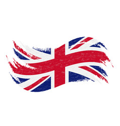 National flag of the united kingdom designed vector