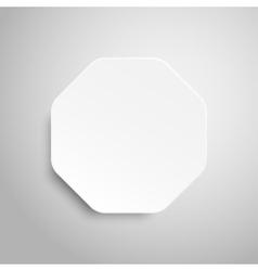 Paper Banner Design Mockup Octagon vector