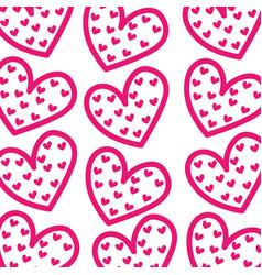 pink hearts love romantic valentine celebration vector image